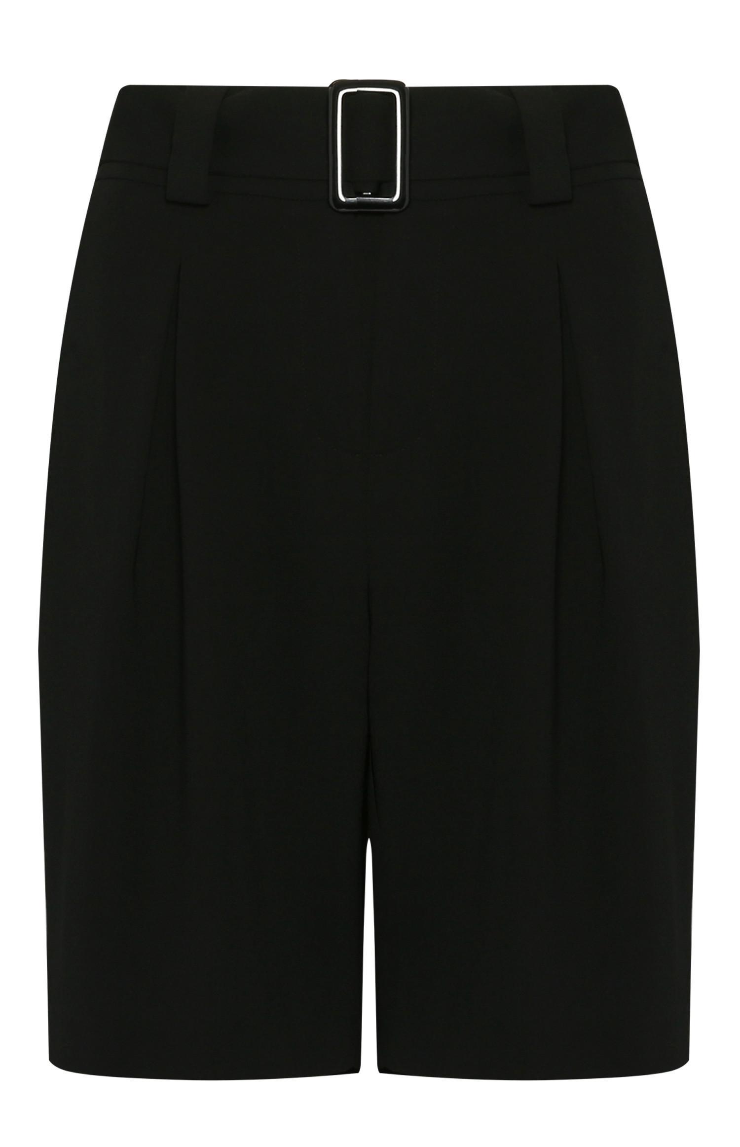 Pantalón corto largo negro