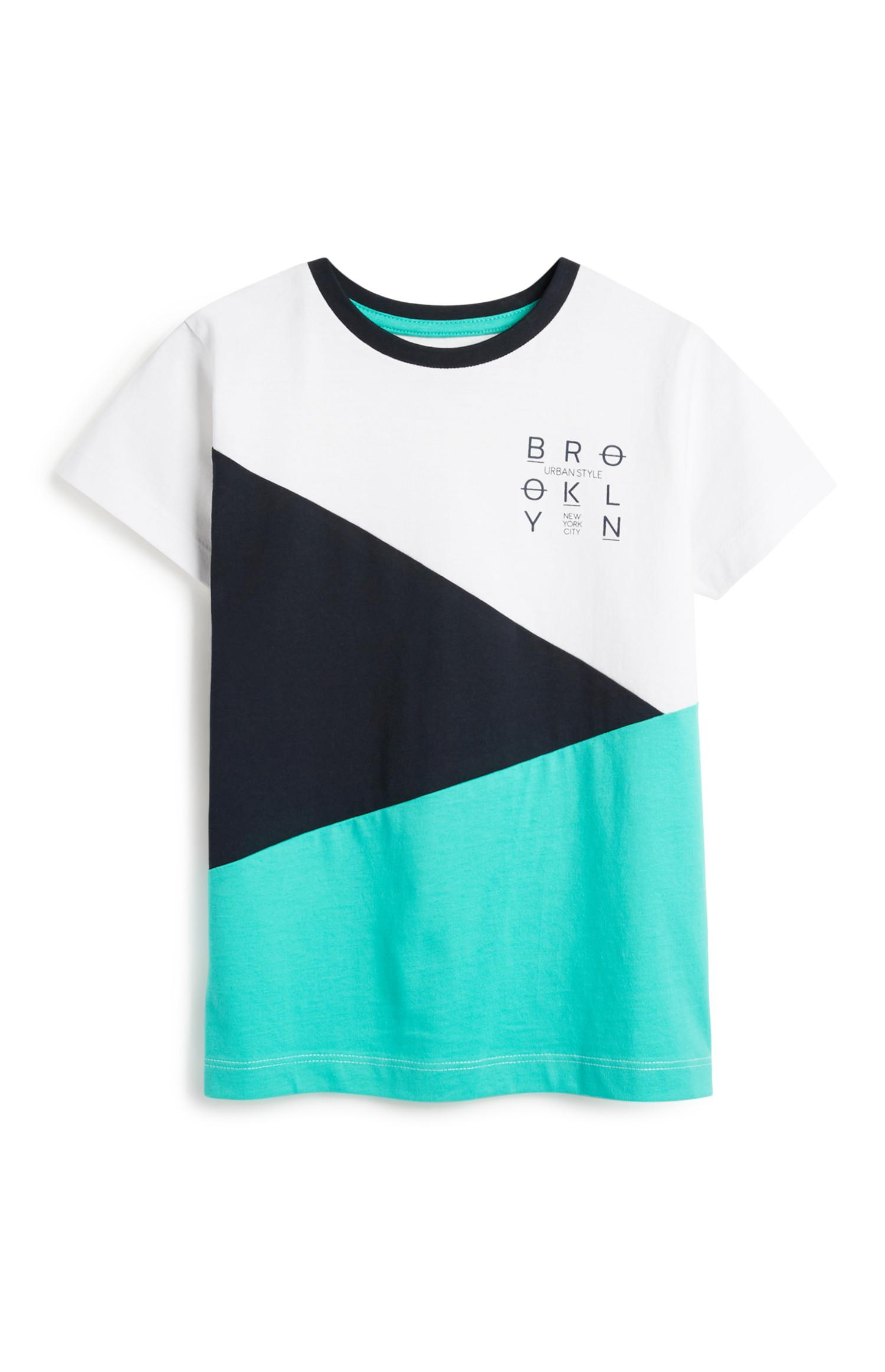 Camiseta bicolor de niño pequeño