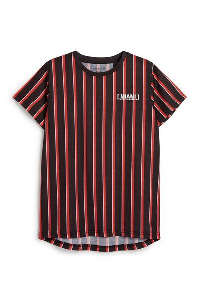 Older Boy Vertical Stripe T-Shirt