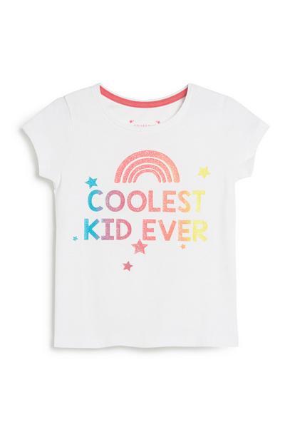 Younger Girl Slogan T-Shirt