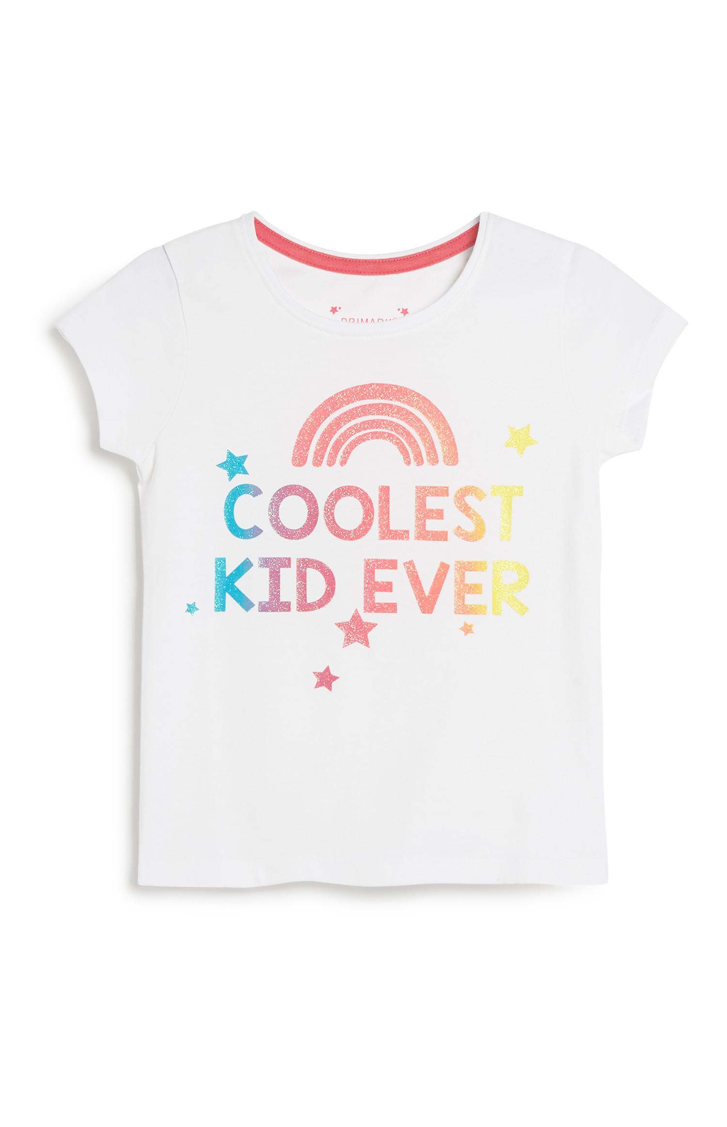 T-shirt met tekst, meisjes