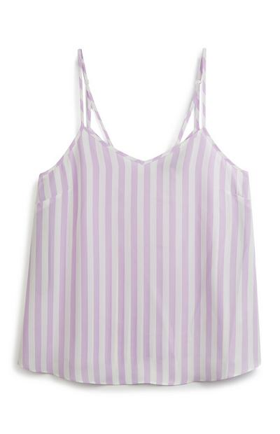 Lilac Stripe Cami Top