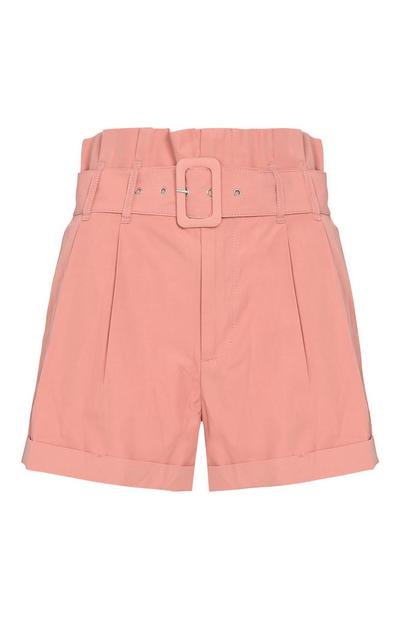 Pink Buckle Shorts