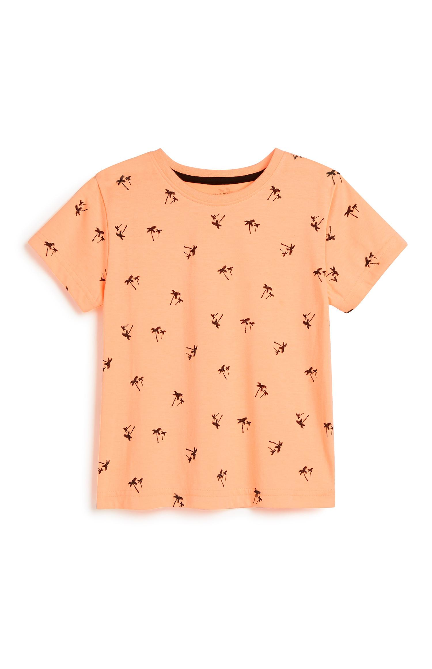 T-shirt met palmenprint, jongens