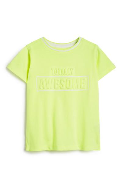 Younger Boy Neon Top