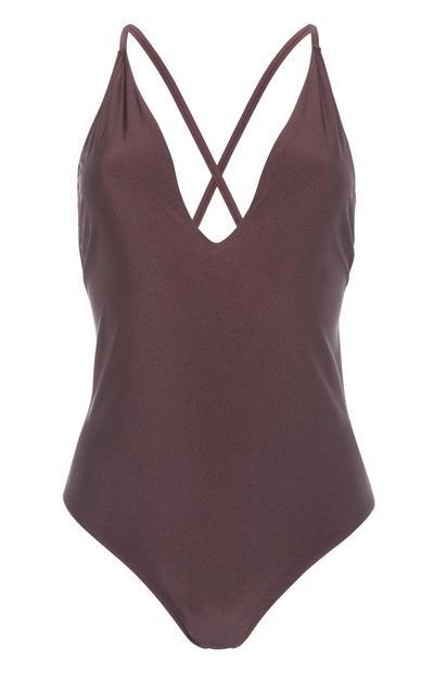 Dark Brown Swimsuit