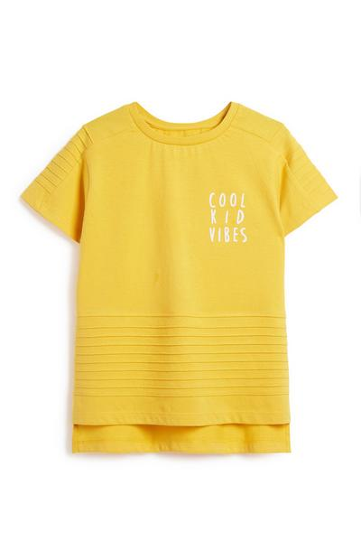 Younger Boy Mustard Top