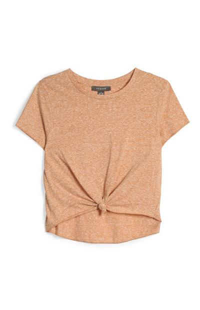 Tan Knot Top