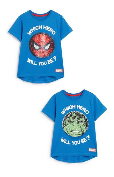 Spiderman Sequin T-Shirts 2Pk