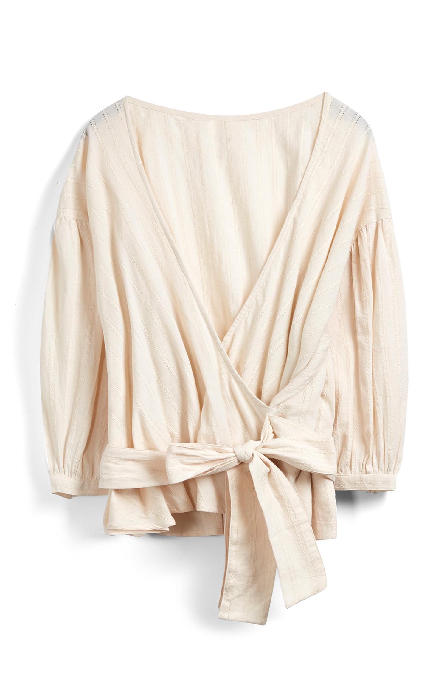 Ivory Wrap Top