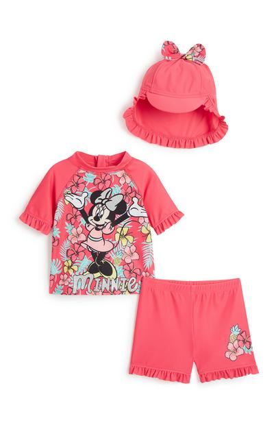 Baby Girl Minnie Mouse 3Pc Sunsuit