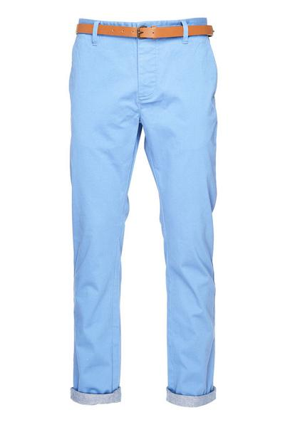 Blue Belted Chinos
