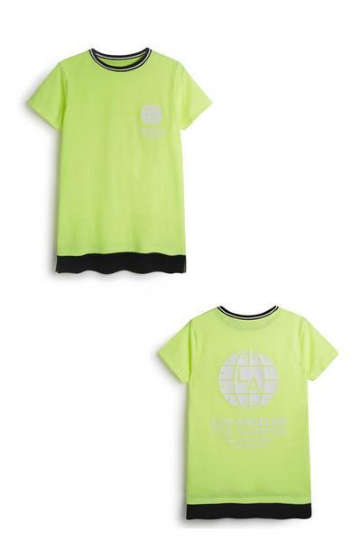 Older Boy Neon Top