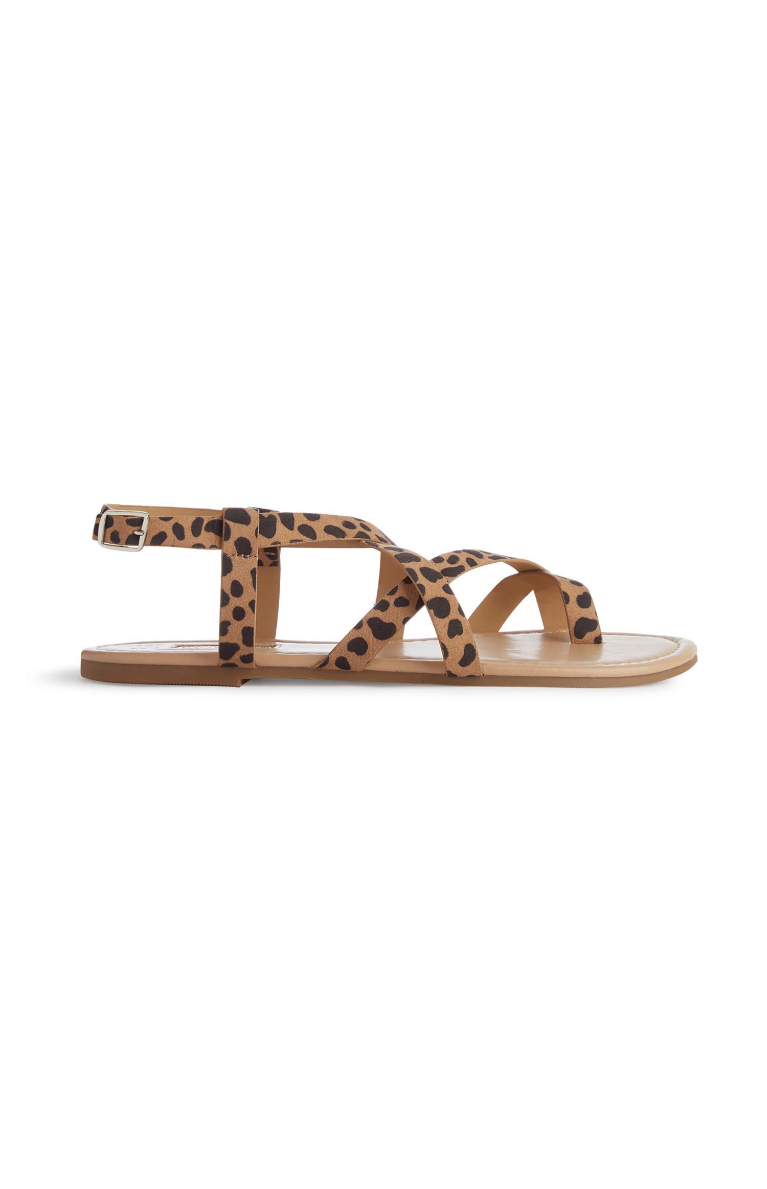 Strappy Leopard Print Sandal