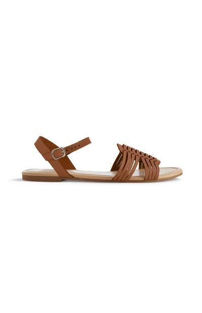 Tan Hurrache Sandal