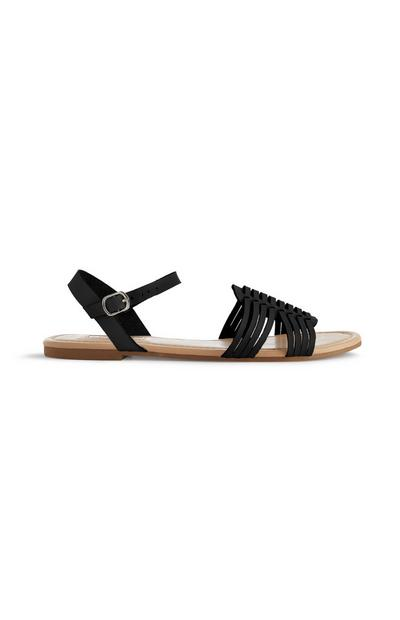 Black Hurrache Sandal