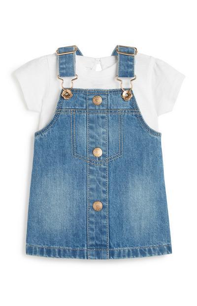 Jeans-Latzkleid für Babys (M)