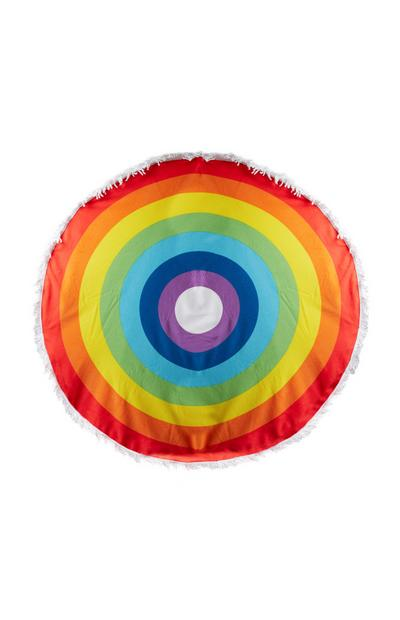 Rainbow Round Beach Towel