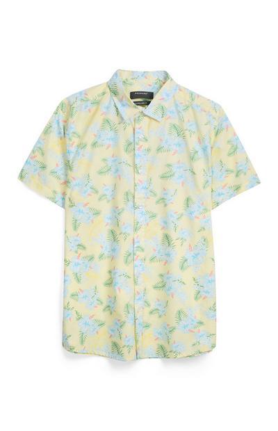 Gelbes Hemd mit Blumenmuster