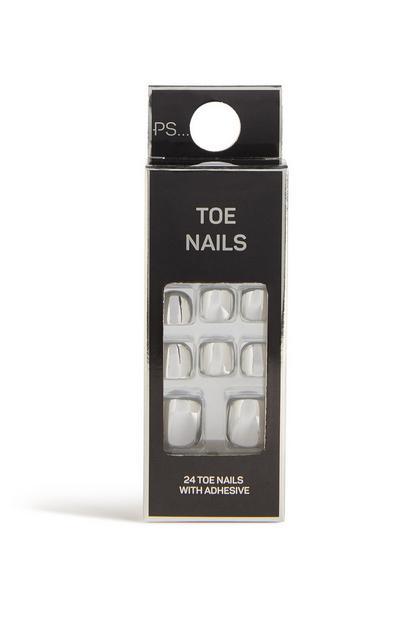 Chrome Flase Toe Nails
