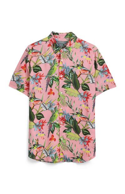 Pink Floral Bird Shirt