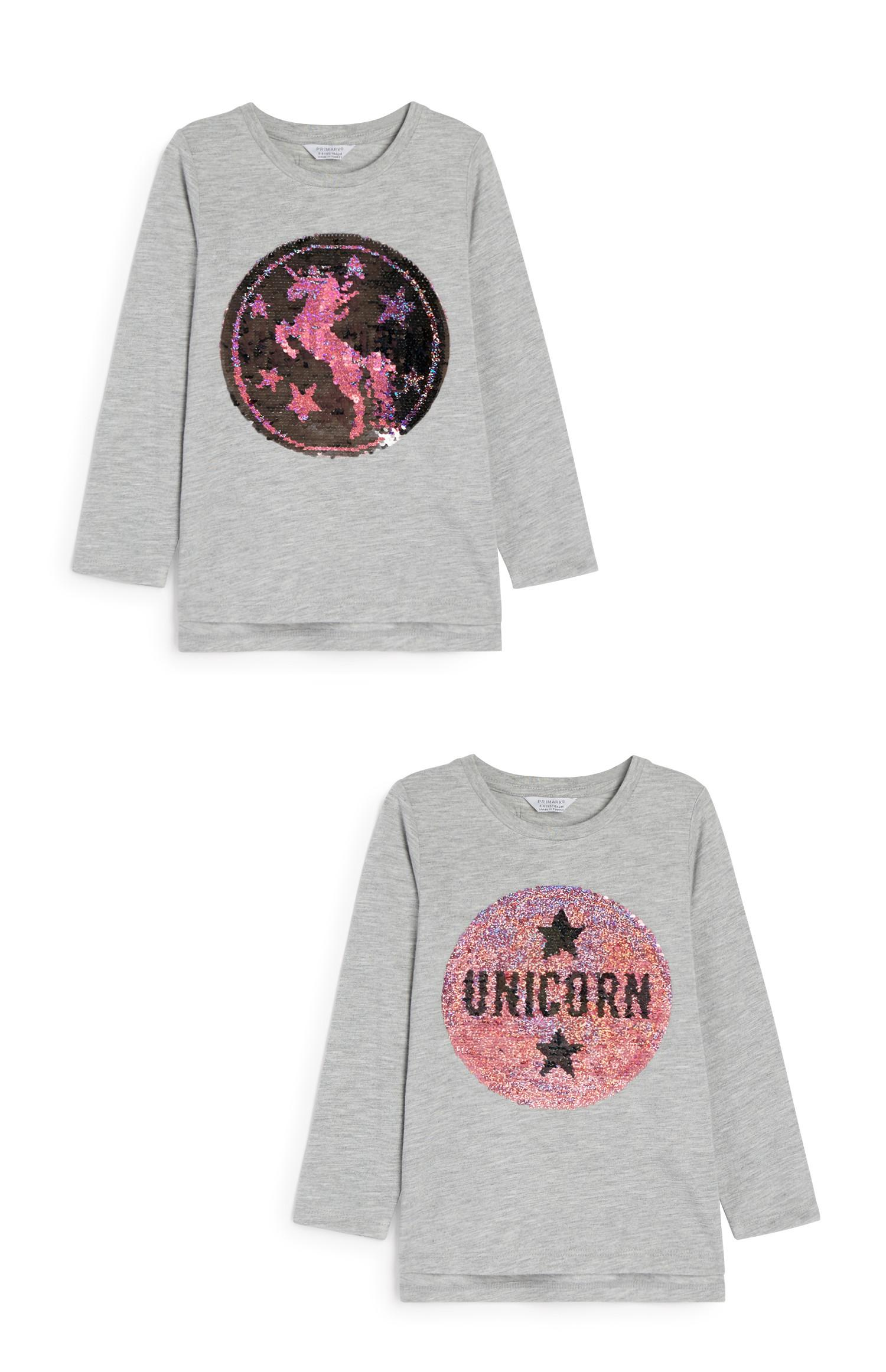 Younger Girl Sequin Unicorn Top