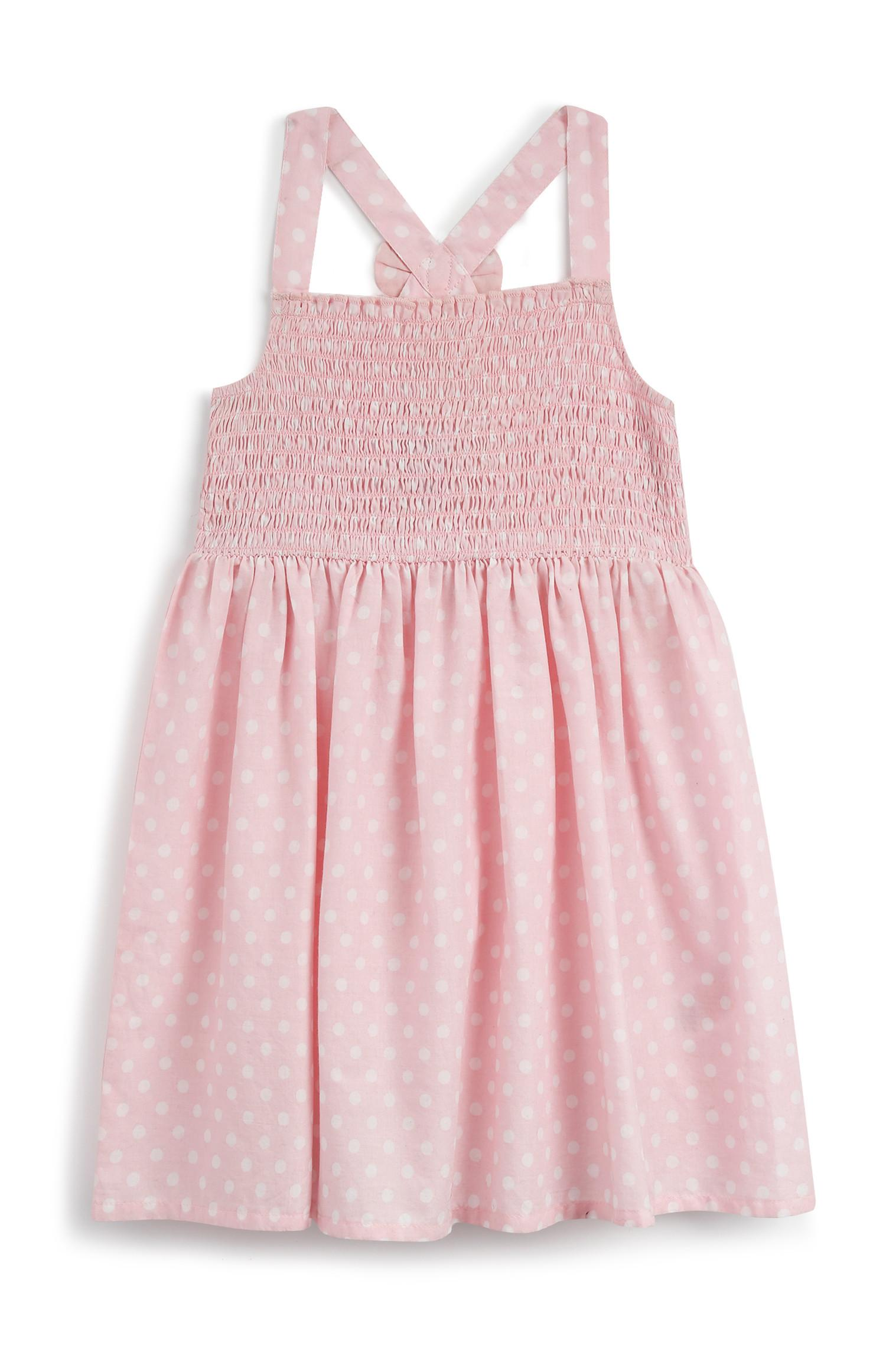 Baby Girl Polka Dot Blush Dress