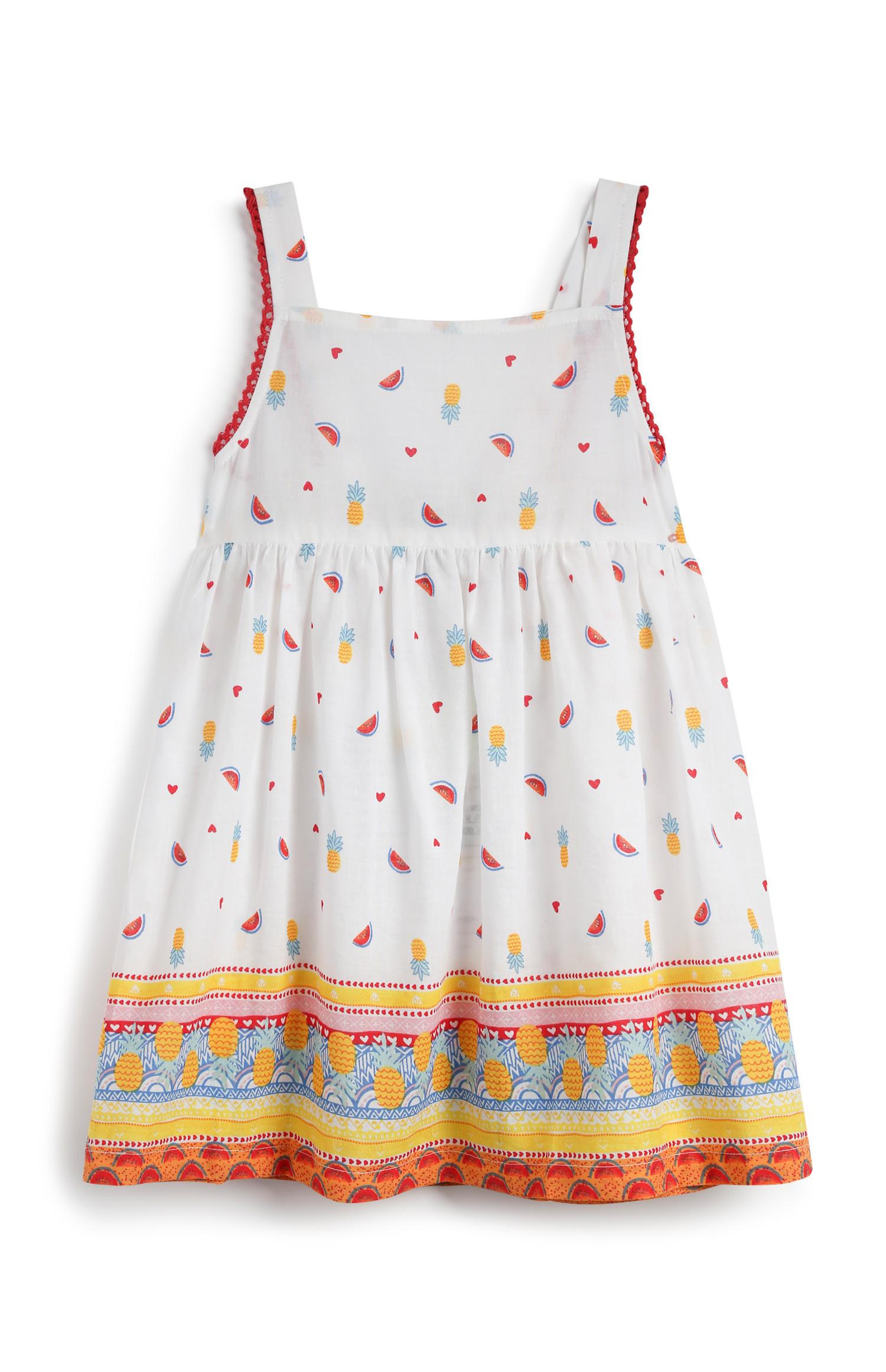 Baby Girl Fruit Print Dress