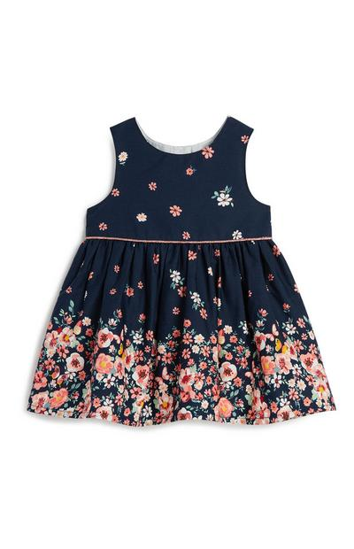 Baby Girl Navy Floral Dress