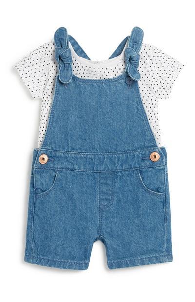 Baby Girl Short Dungaree