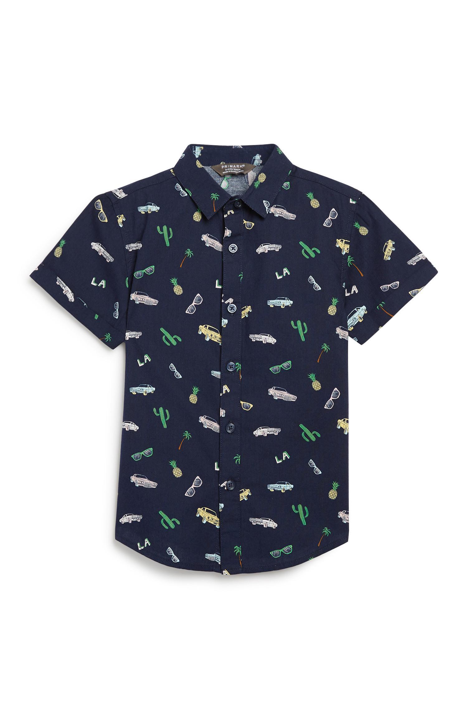 Younger Boy Summer Print Shirt