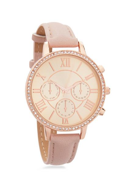 Rose Watch With Diamonte Finish