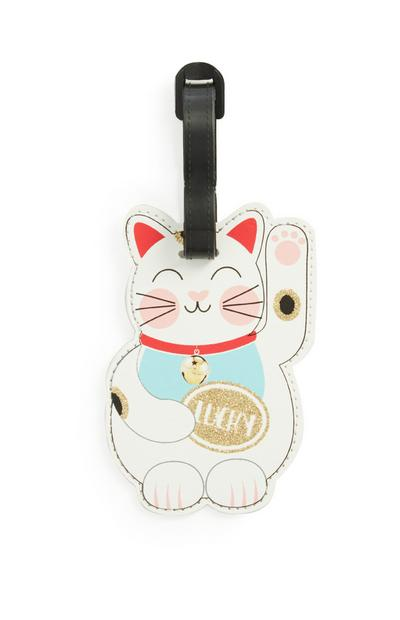 Lucky Cat Luggage Tag