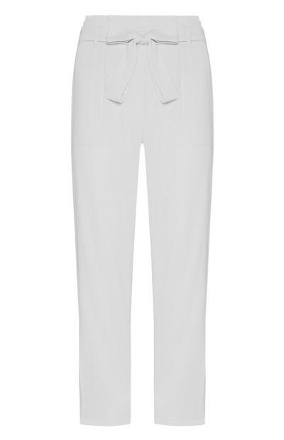 White Belted Trouser