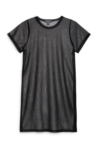 Black Sheer Dress
