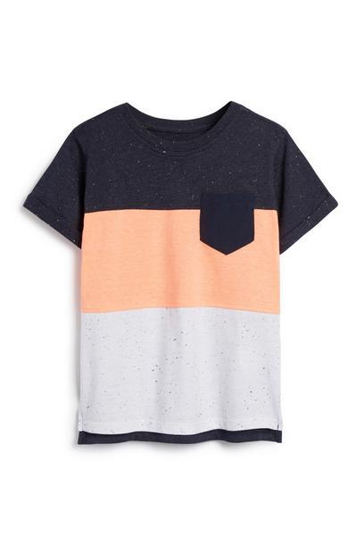 Younger Boy Neon Colour Block T-Shirt