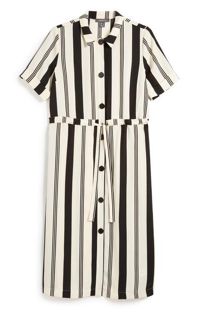 Stripe Utility Shirt Dress