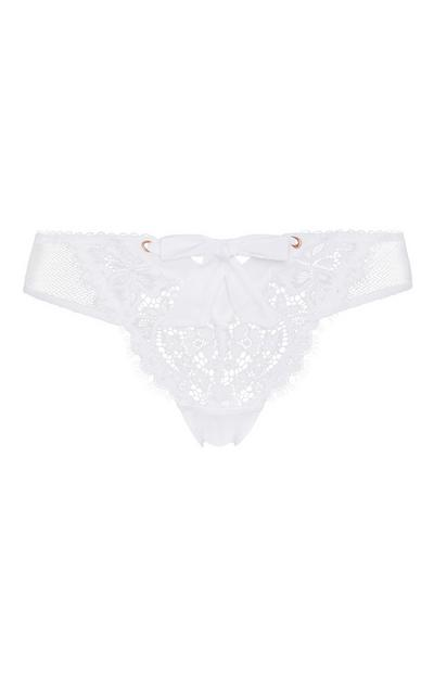 White Lace Brief