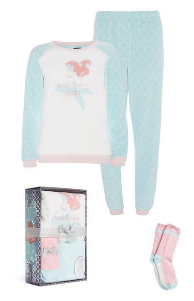 Little Mermaid Sherpa Pyjama Gift Box