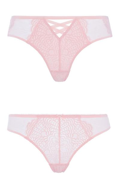 Pink Lace Brief 2Pk