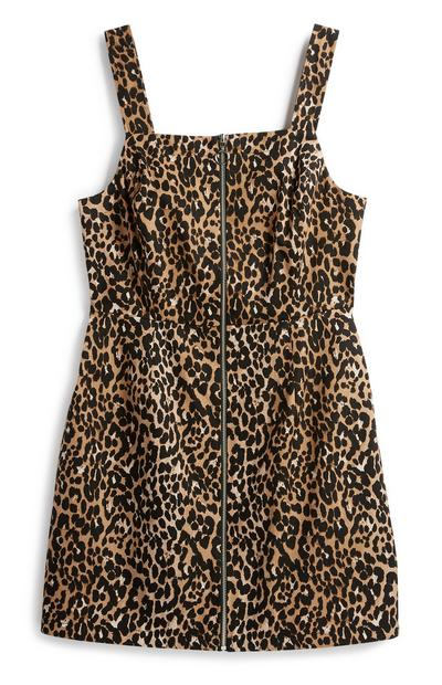 Leopard Pinafore Dress