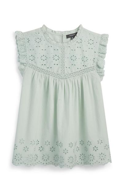 Light Green Embroidery Blouse