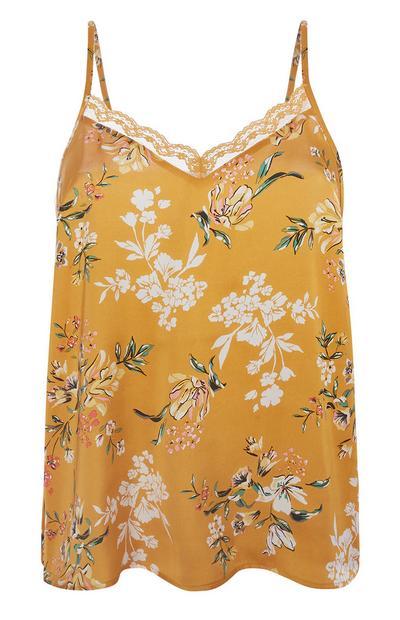 Yellow Floral Pyjama Cami