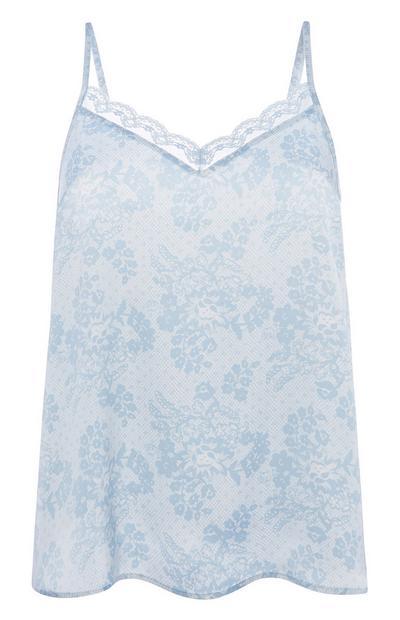 Blue Pyjama Cami