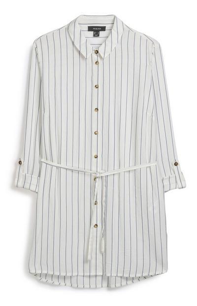 Stripe Belted Shirt