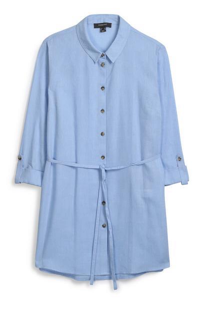 Blue Belted Shirt