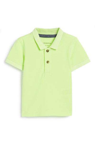 Baby Boy Neon Polo Top