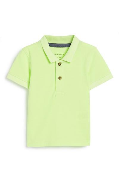 Baby Boy Neon Polo Top