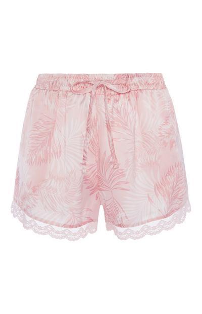 Pink Pyjama Shorts
