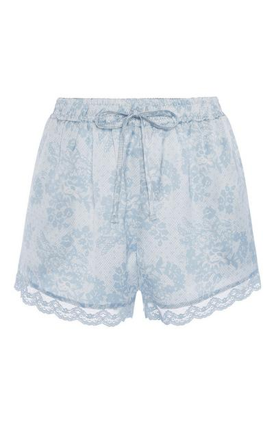 Blue Pyjama Shorts